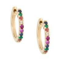 LOZRUNVE Gold Jewellery Dubai 925 Silver Rainbow Hoop Earring