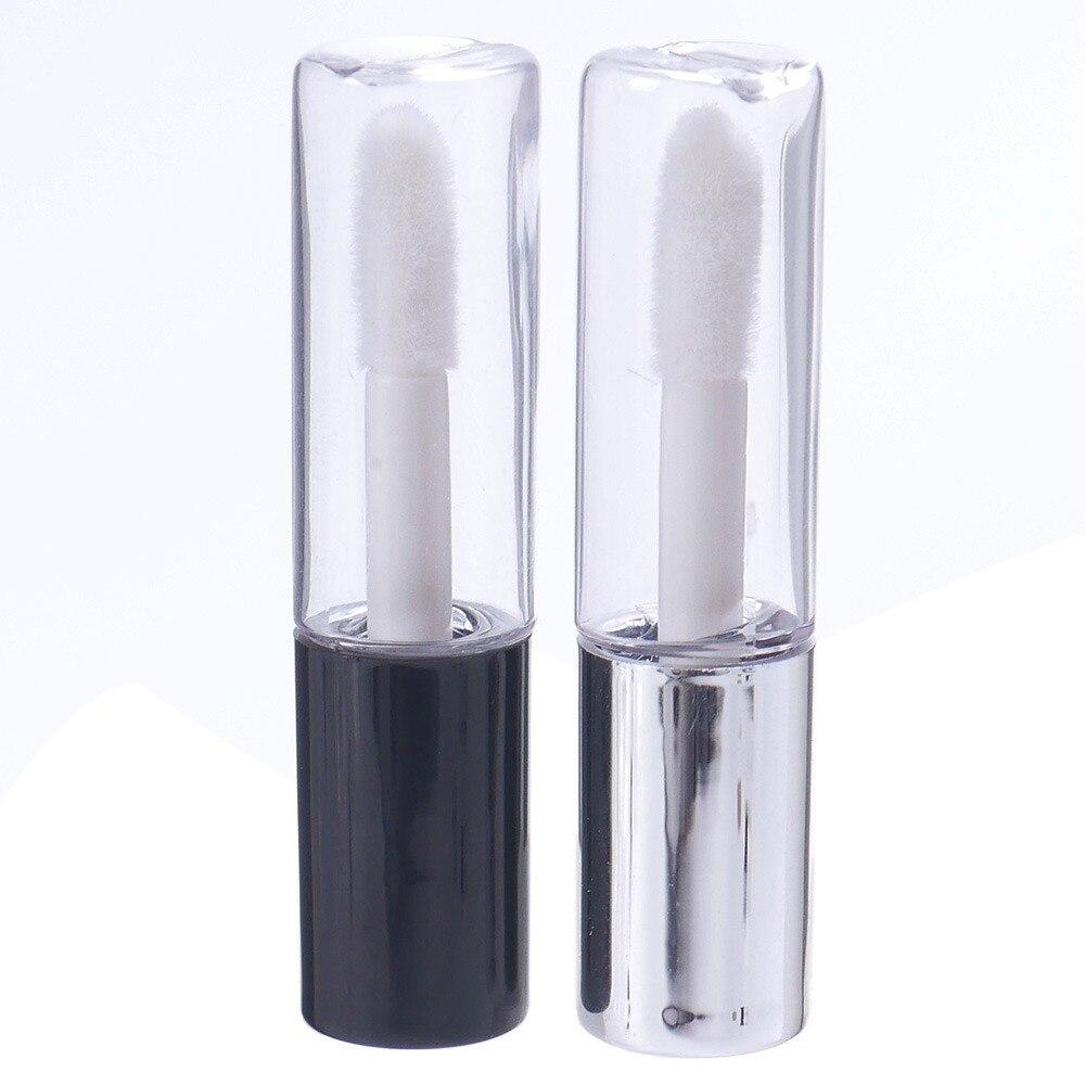 1.2ML Empty Transparent PE Lip Gloss Tubes Plastic Lip Balm Tube Lipstick Mini Sample Cosmetic Container With Cap