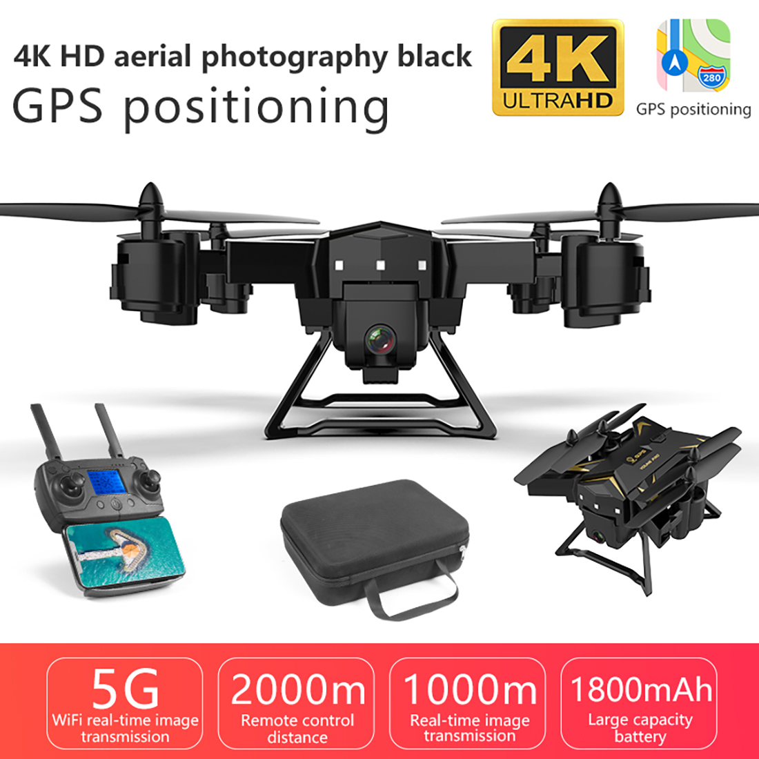 квадрокоптер игрушки KY601S 4K HD Camera 5G WIFI HD Camera 1080P Foldable Drone W/ Wide-angle FPV Professional Quadcopter