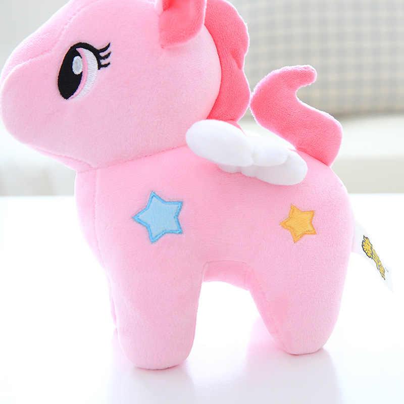 20cm różowy Kawaii pluszowy jednorożec lalka zabawka miękka Appease poduszka do spania wystrój pokoju dla dzieci zabawka dla dzieci uczeń prezent gwiazdkowy
