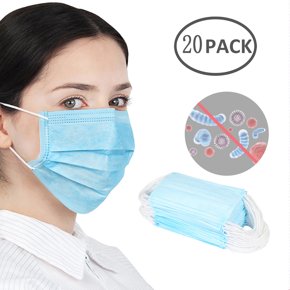 100pcs Pm2.5 N95 Dust Mask 3 Layers Filter Respirator Face Mask KN95 Mask Filter Against Droplelt N95 Mask as FFP2 mascherine