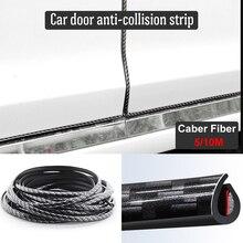 5M/10M Car Door Protector Anti-Collision Strip Carbon Fiber Edge Anti-Scratch Sticker chrome Trim Safety Seal Protection