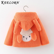 Keelorn Baby Girls Jacket Coat 2020 New Cartoon Rabbit Toddl