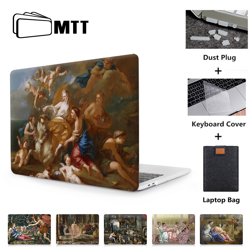 MTT Case For Macbook Air Pro Retina 11 12 13 15 Touch Bar Classical Oil Painting Laptop Sleeve For Apple Macbook 13.3 Inch Cover