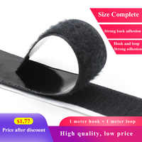 1M 16-50mm Strong Velcros Self Adhesive Fastener Black White Magic Tape Nylon Sticker Disks Hook and Loop Tape Glue