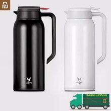 Youpin VIOMI – tasse isotherme originale en acier inoxydable de 1,5 l, flacon sous vide de 24 heures, bouteille deau, pour bébé, pour lextérieur, pour maison intelligente
