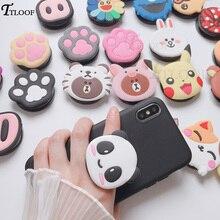 3D cartoon fold finger grip phone holder for iphone samsung xiaomi huawei case