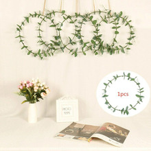 Festive Party Decoration Artificial Long leaf Lucky Wreath Green Leaves Front Door Indoor Wall Decor цена и фото