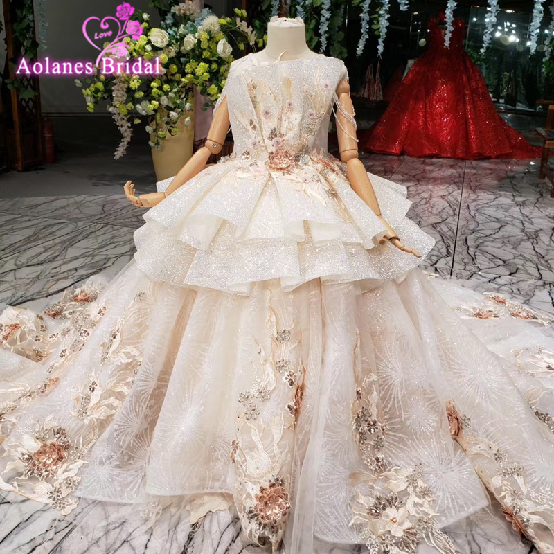 2019 Vintage Lace Pageant Dresses Flower Girl Dress Off Shoulder Sweep Train Long Sleeves Ball Gown Kid First Communion Dresses