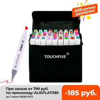 TouchFIVE-kolorowe markery wiele kolorów 30 40 60 80 168 do rysowania mangi mazaki na bazie alkoholu do szkicowania olejowe artykuły plastyczne podwójny pędzel tanie i dobre opinie CN (pochodzenie) Pojedyncze (AE存量)* 7 JEDNA Markery do malowania Zestaw TOUCHFIVE Art Markers Pens Alcohol Markers Art Supplies Markers