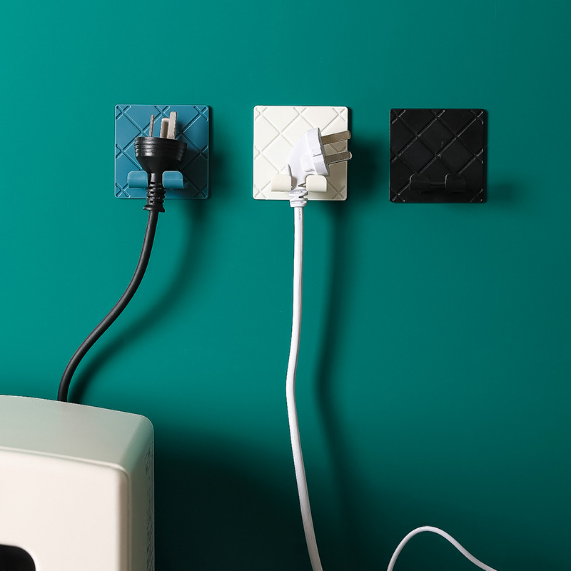 Folding Socket Hook Kitchen Appliance Hanging Wire Plug Sticky Hook Put Socket Power Cord Storage Rack