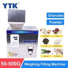 YTK máquina de llenado de polvos de gránulo, 500G, máquina de pesaje automático, máquina de envasado de Medlar para partículas de semillas de frijol de té