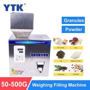 Image 1 - Ytk 500G Korrel Poeder Vulmachine Automatische Wegen Machine Mispel Verpakkingsmachine Voor Thee Bean Zaad Deeltje