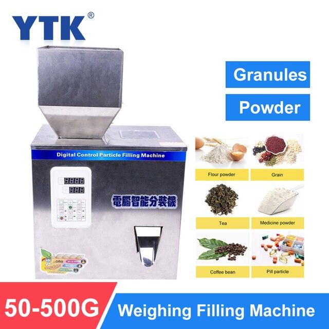Ytk 500G Korrel Poeder Vulmachine Automatische Wegen Machine Mispel Verpakkingsmachine Voor Thee Bean Zaad Deeltje