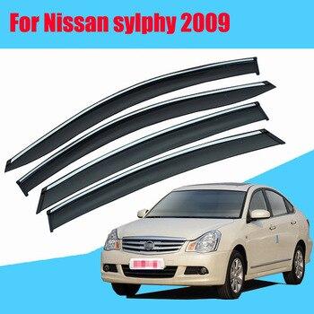 For Nissan sylphy 2009 Car Sun Window Visor Rain Guard Vent Shade Accessories 4Pcs