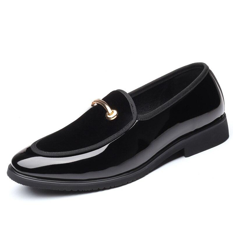 Сезон весна-лето; дышащие мокасины; мужские лоферы; мужская обувь на плоской подошве; кожаная повседневная прогулочная обувь для вождения; - Цвет: BLACK