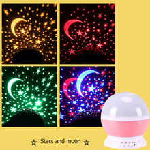 Night-Light Decor-Projector Galaxy Baby-Lamp LED Star Kids Children Moon for Bedroom