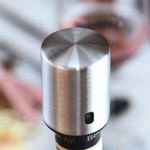 Image 3 - دائرة الفرح الذكية النبيذ سدادة الفولاذ المقاوم للصدأ الكهربائية سدادة النبيذ الفلين فراغ الذاكرة النبيذ سدادة دائم
