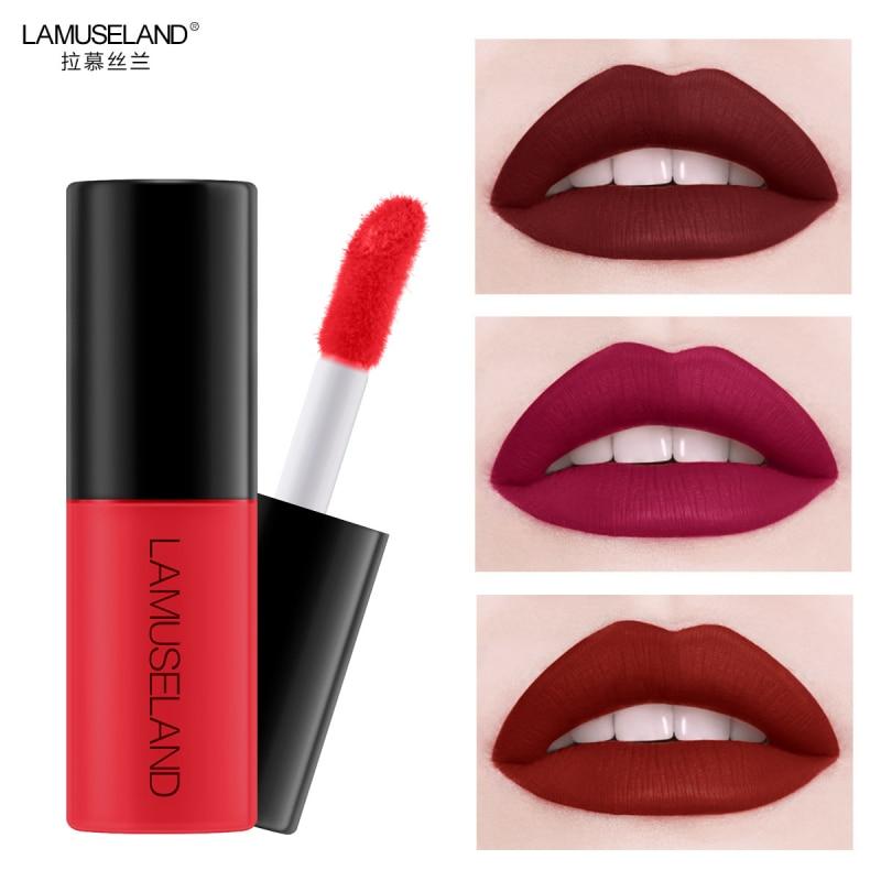 12 colors Lip Gloss Lip Glaze Sample Matte Long Lasting Non-Stick Cup Waterproof Lip Liquid Matte Lipstick Cosmetics TSLM2(China)