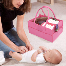 Multifunctional Diaper Bag Baby Caddy Organizer Portable Holder Bags Nursery Essentials Storage Foldable