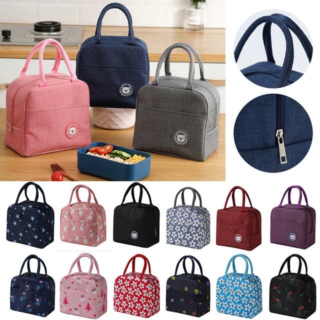 Portable Cooler Bag Ice Pack Lunch Box Insulation Package Insulated Thermal Food Picnic Bags Pouch For Women Girl Kids Children 1