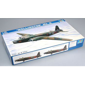Trumpeter 02823 1/48 British Vickers Wellington Mk.III Bomber Plane Airplane Aircraft Toy Plastic Assembly Model Kit trumpeter 1 48 scale us c 47a c 48c skytrain transport plane airplane aircraft toy plastic assembly model kit
