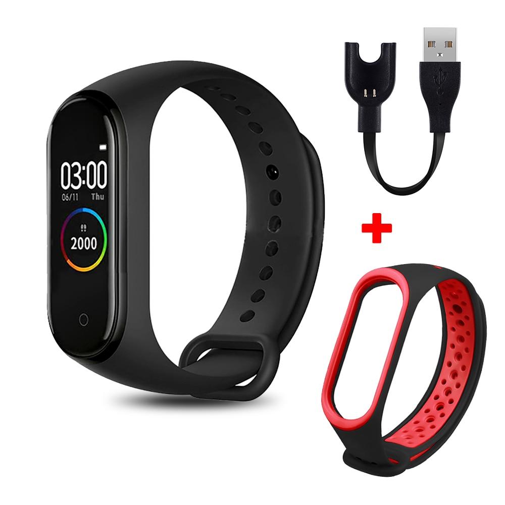 M4 смарт-браслет цветной экран Смарт-браслет Спорт Фитнес шагомер кровяное давление браслет счетчик шагов для ходьбы мужские и женские часы