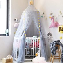 Crown Canopy On Baby Kid's Bed Baldachin Baby Bed Sky Mosquito Net Baby Girl Bedroom Decoration Mesh Canopy On The Crib Nursery