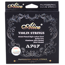 4 pçs/set Violino Strings em UMA, E, G, D Nylon Cordas de Violino 4/4 3/4 2/4 1/4 Acessórios de Alta Qualidade