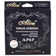 4 pièces/ensemble cordes de violon A, E, G, D cordes de Violino en Nylon 4/4 3/4 2/4 1/4 accessoires de haute qualité