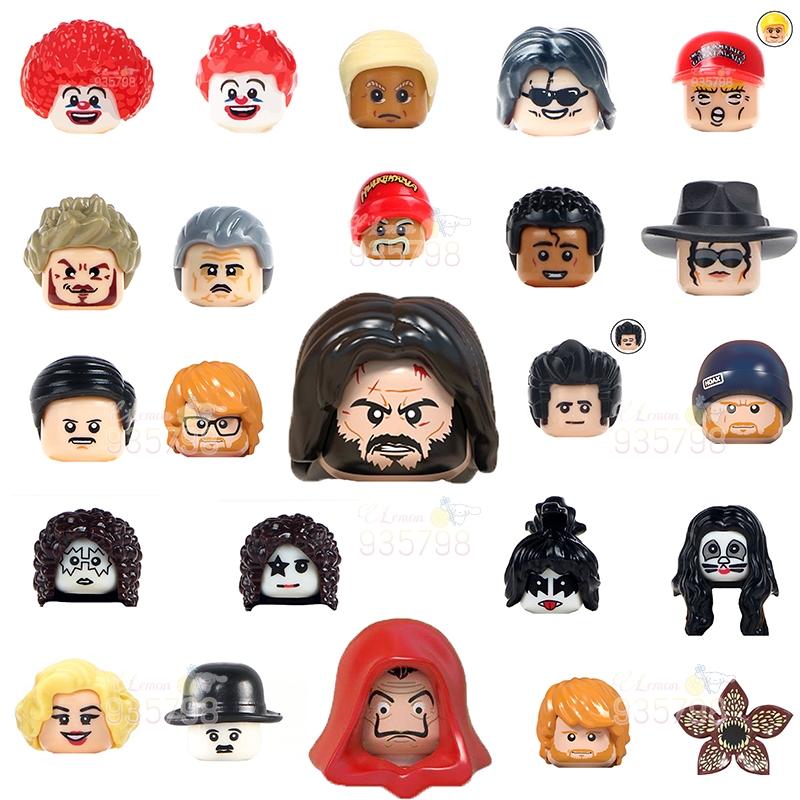 WM830 John Wick House of Paper Doctor Who TV Series Character Building Blocks Stranger Thing anime figure head toys for children