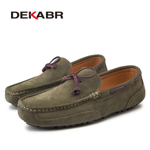 Image 3 - DEKABR Genuine Leather Men Shoes Luxury Brand Casual Slip On Formal Loafers Men Moccasins Male Driving Shoes Warm Loafers