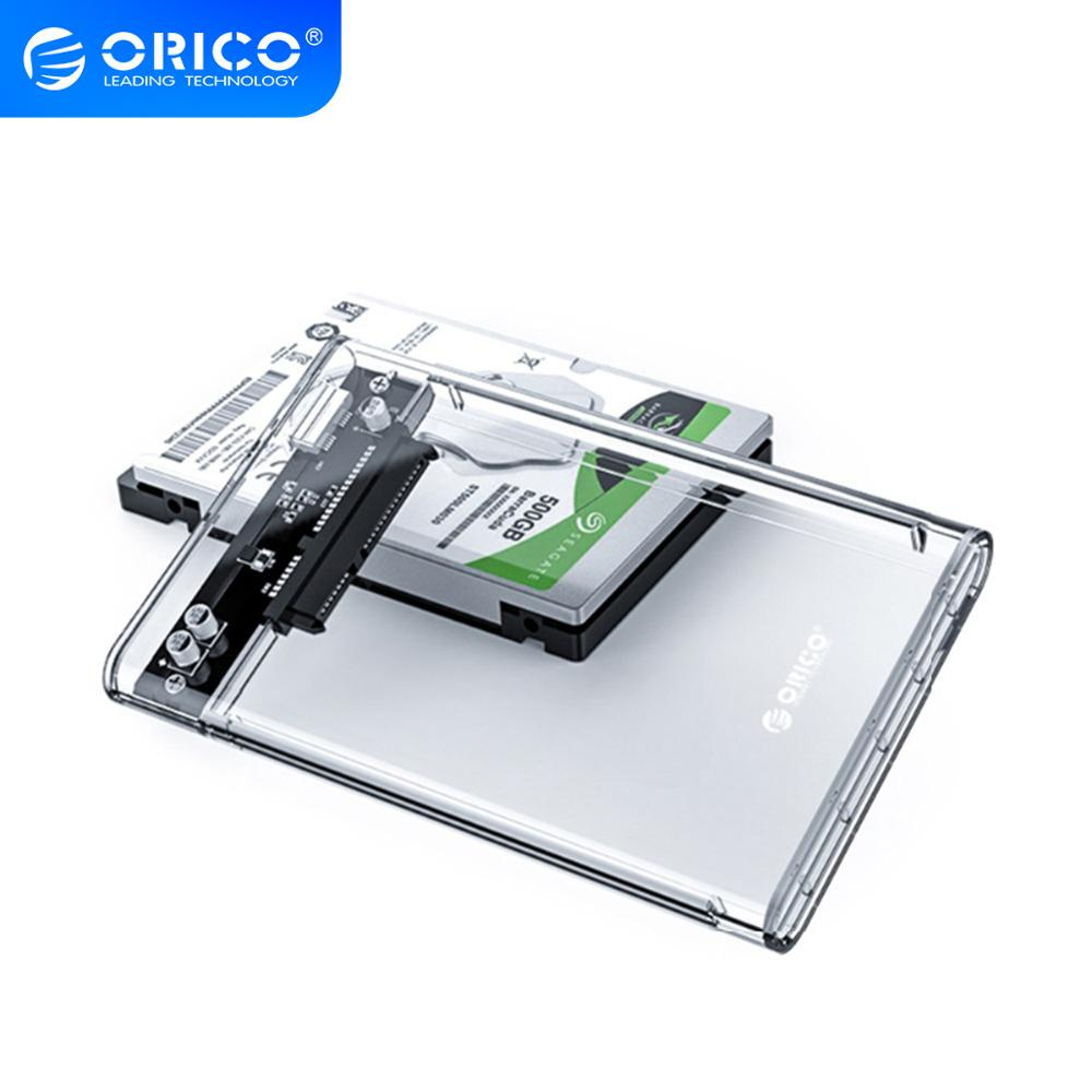 ORICO HDD Case 2 5 Transparent SATA to USB 3 0 Adapter External Hard Drive Enclosure for 7mm 9 5mm SSD Disk HDD UASP SATA III