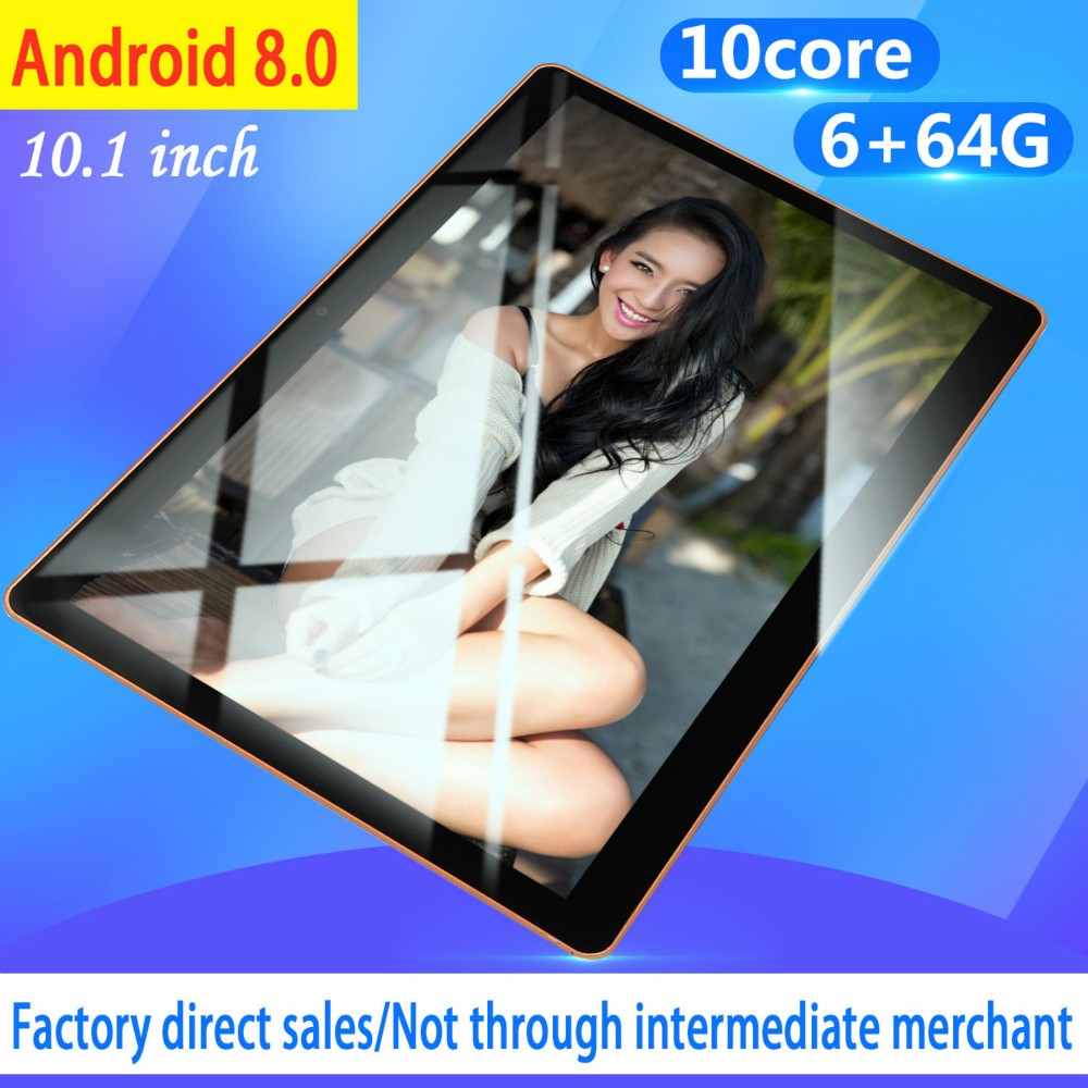 NEW 10 Inch Tablet Pc Quad Core Original Android 8.0 6GB RAM 64GB ROM IPS Dual SIM Phone Call Tab Phone Pc Tablets