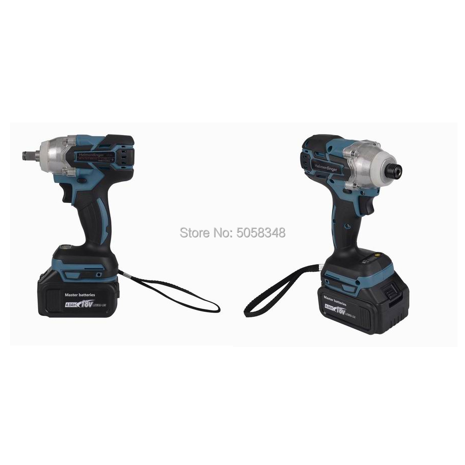 18V drill Battery with Electric four Impact and 4 Rechargeable 0Ah Cordless Wrench Brushless combo brushless Impact driver