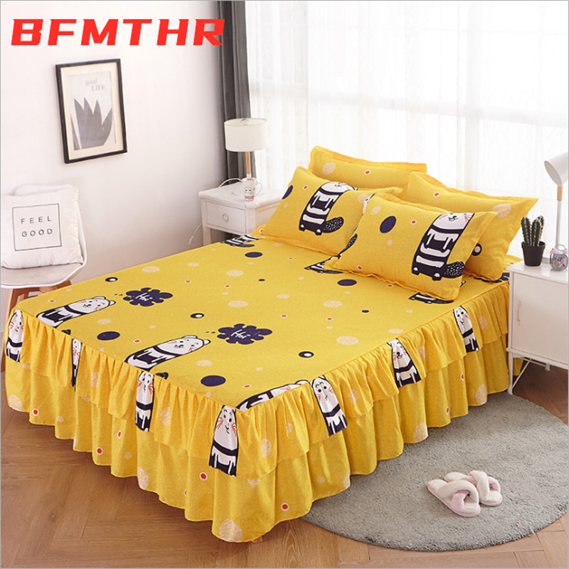 BFMTHR Comforter Bedding Sets Queen King Size Fitted Sheet Pillowcase Bed Linen XHS0164