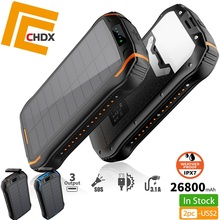 CHDX 26800mah QI Wireless Solar Charger USB Power Bank Panel for Mobile Phone Pad New
