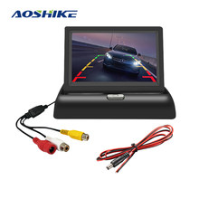 AOSHIKE – moniteur de stationnement pour voiture, écran pliable universel TFT LCD 4.3x640, avec caméra pour véhicule, 12V, 480