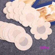 Ruban adhésif invisible pour soutien-gorge pour femme, autocollant pour la poitrine, accessoires couvre-mamelons, 50 pièces