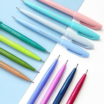 12pcs/set Pentel New Color Brush Pen Color Marker Pen Painting Art Scrapbooking Supplies School Stationery Wholesale