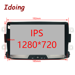 "Image 2 - Idoing 1Din 8""Car Radio GPS Multimedia Player Android 9.0 For Renault Duster LADA 2014 2016 IPS DSP 4G+64G Octa Core Navigation"