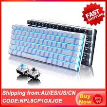 SPASH Wired Mechanical Keyboard 82 Keys Blue / Black Switch Ergonomic Gaming Keyboard LED Backlight Teclado Mecanico for Gamer