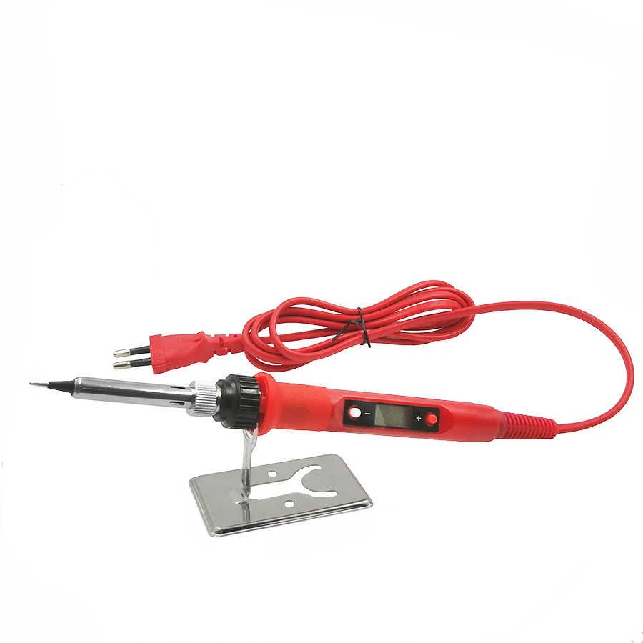 60 W/80 W Electric Digital Solder Station 220V 110V Suhu Adjustable Welding Solder Tips Alat aksesoris