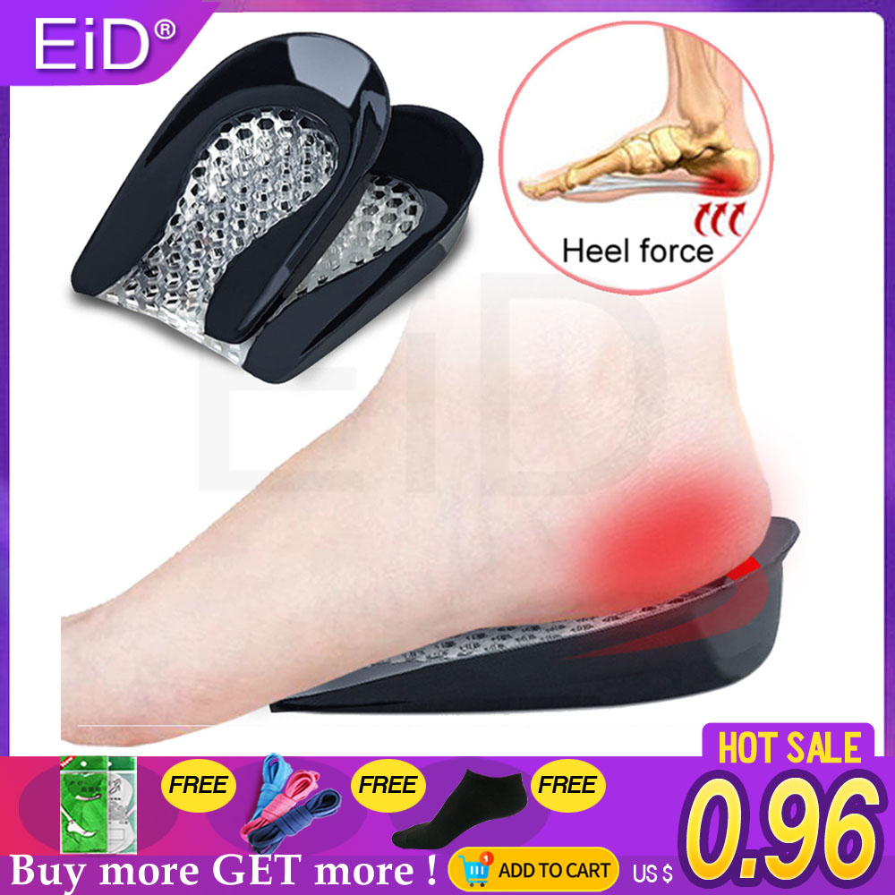 EiD Honeycomb Silicone Gel Insoles For Spur Plantar Fasciitis Heel Shoe Cushion Soles Gel Pad Feet Care Inserts Women Kid Child