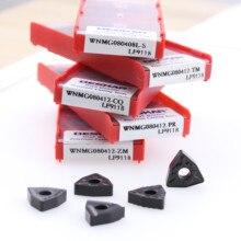 10PCS WNMG080404 WNMG080408 WNMG080412 PR CM CQ HQ LF9118 CNC Lathe Cutter Tools Carbide Inserts wnmg080404 wnmg080408 ha pc9030 inserts 100