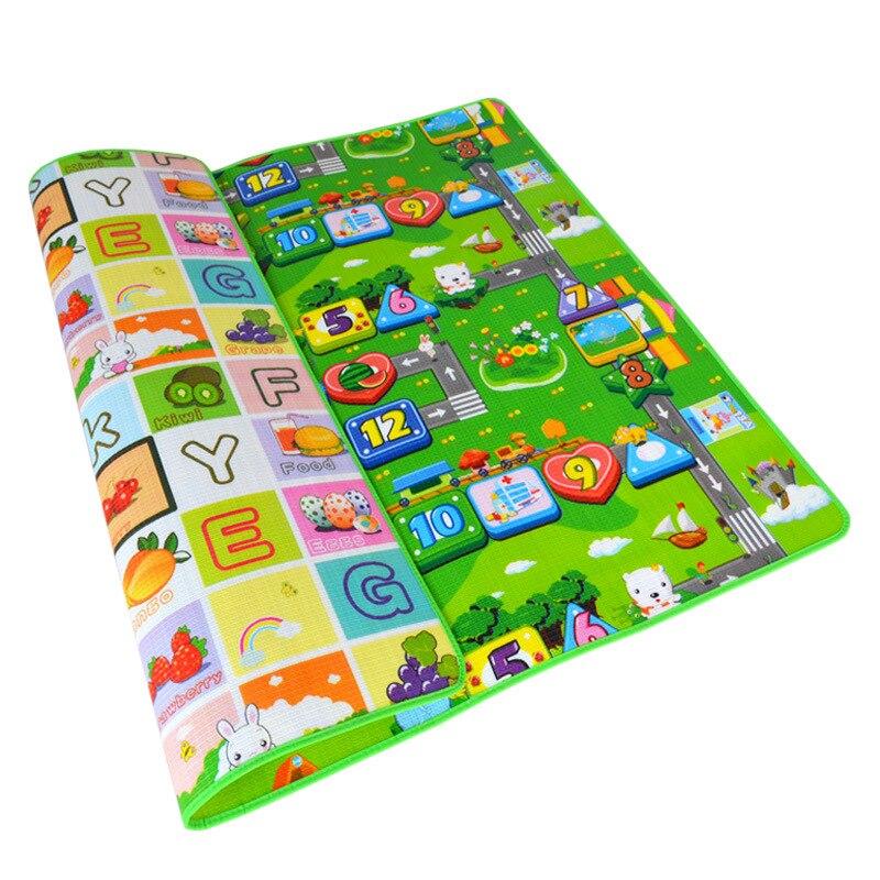 Kids Baby Crawling Play Mat 200*180cm Double Surface Educational Alphabet Animal Rug Children Waterproof Carpet Developing Pad