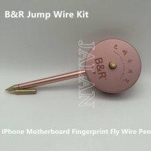 B & R Jump Draht Pen schnelle löten fliegen draht werkzeug mit Solder Eisen Spitzen für iPhone motherboard fingerprint fly linie reparatur werkzeug