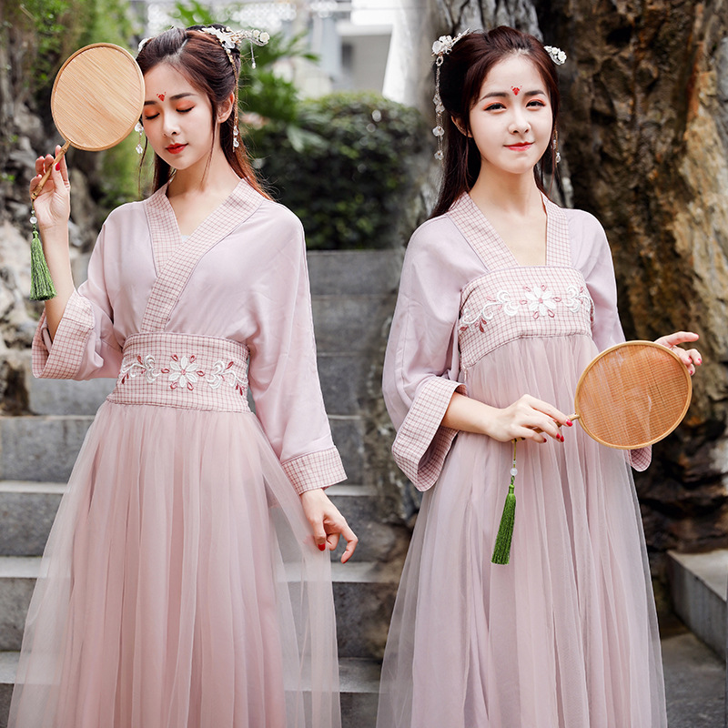 Hanfu Women Hanfu Dress Cosplay Chinese Dress Cheongsam Chinese Traditional Dress Fairy Dress Qipao Summer Skirt Short Sleeve