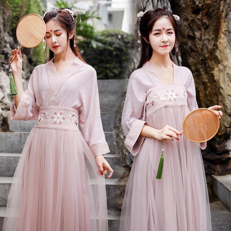 Hanfu Women Hanfu Dress Cosplay Chinese Dress Cheongsam Chinese Traditional Dress Fairy Dress Qipao Summer Skirt Short Sleeve