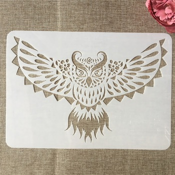 A4 29cm Owl DIY Layering Stencils Painting Scrapbook Coloring Embossing Album Decorative Template